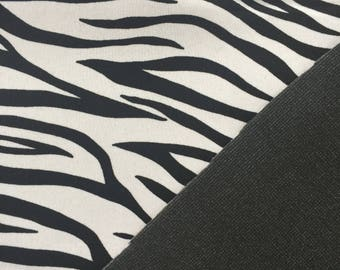 Zebra Laminated to Foam - Sold by the Yard