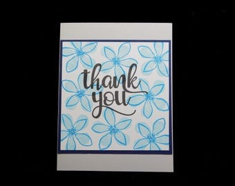 Thank You Card, Hand Made Card, Note Card