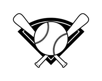 Baseball bat svg Baseball svg Baseball silhouette baseball cut file svg Vector Cut File Cricut Design Silhouette Decal Vinyl Heat Transfer