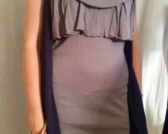 Navy Blue sleeveless Cardigan