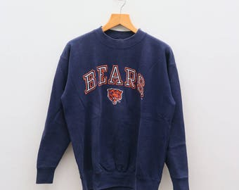 Vintage BEARS NFL National Football League American Football Team Blue Pullover Sweater Sweatshirt