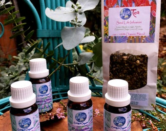 Soul Warming and Mind Clearing - Winter Wellness herbal tea and essential oil collection (with lemon oil)