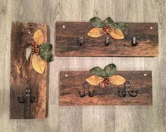 Rustic Wall Hooks- Made from old Barn Wood, Wall Hooks, Barn Wood, Rustic Decor, Farmhouse Decor, Housewarming Gift, Home Decor