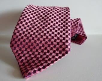 Pink tie Silk tie Vintage tie Mens tie Necktie Vintage silk tie Mens tie Vintage necktie Gift for men Designer tie Pure silk tie Purple tie