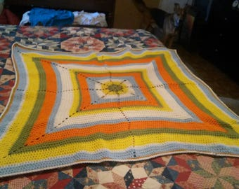 Bright throw/ baby blanket