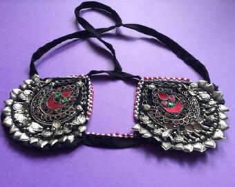 Boho Chic Indian Style Headpiece Festival Headdress Gypsy Chic