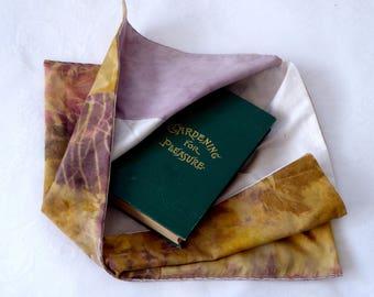 Azuma Bukoro (Bento Bag), bundle dyed cotton fabric, lined with eco dyed cotton, gift bag