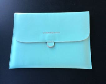Tiffany Blue  M. Humming Leather Sleeve for Apple iPad (9.7in H) Protective Case/Cover/Pouch