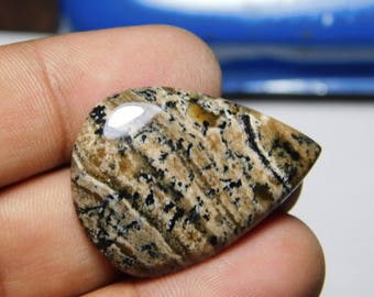 Awesome Honey Dendrite agate loose stone, Natural Honey Dendrite agate cabochon,Dendritic Agate 39 Cts.