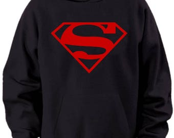 Superman Superboy Logo Hoodie Mens Sizes S M L Xl Xxl Xxxl 4xl 5xl