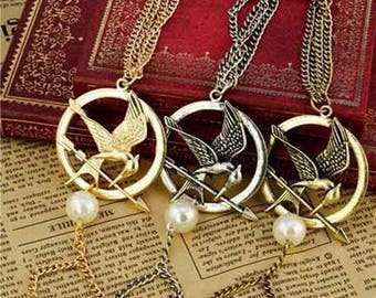 The Hunger Games Movie Inspired Mockingjay Bird Bracelet Cosplay Gold Silver Bronze Colour