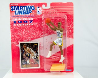 Starting Lineup NBA 1997 Reggie Miller Action Figure Anaheim Indiana Pacers