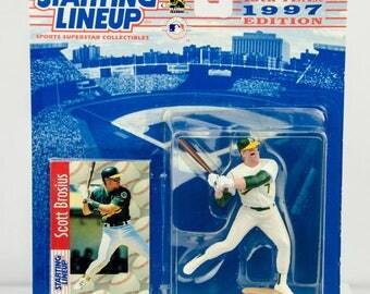 Starting Lineup 1997 MLB Scott Brosius Action Figure Oakland A's Athletics
