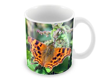 Comma Butterfly Ceramic Coffee Mug    Free Personalisation