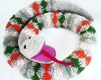 Long Snake Crochet Toy, Crochet Door Draft Stopper, Stuffed Snake Toy, Crochet Stuffed Animals,  Crochet Toy Snake Door Stopper