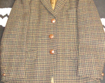 vintage meakers of piccadilly harris tweed sports blazer
