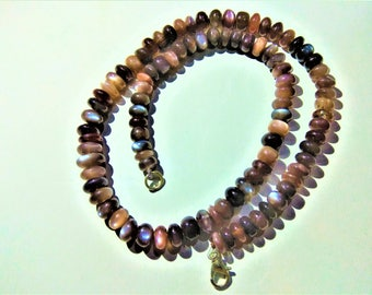 ON SALE -175ct AAA Natural Chocolate Moonstone 7 to 9mm Plain rondelle Beads, Chocolate moonstone necklaces, GemStone Necklaces Jewellery.