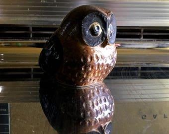 Retro Owl Figurine, Mid Century 1960s Era, Vintage Bird, Home Decor
