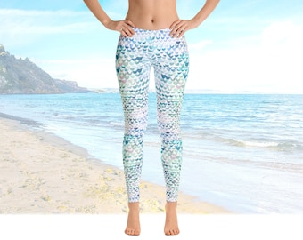 Mermaid Leggings plus size leggings plus size clothing
