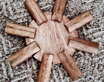 Bamboo trivet   Vintage trivet