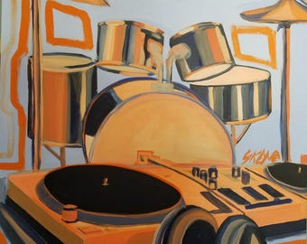 Instruments of Hip Hop 24x30 acrylic on canvas