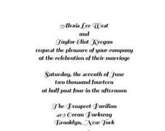 Basic Wedding Invites + Response Cards + Envelopes