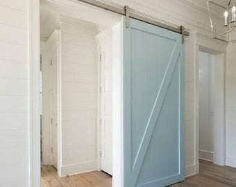 Rustic Barn Door - Sliding Doors - Cottage Door Decor - Industrial Door - Interior Doors - Barn Wood Door - Oak Barn Door - Cottage Doors