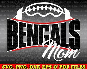 Bengals Football Mom Svg file/Bengals Football Mom svg dxf png eps Cut file/Football svg/Football sister svg/Football mom svg/Football mom