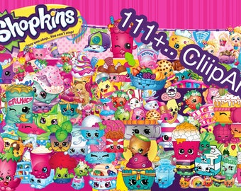 111+.. Shopkins ClipArt - Digital , PNG, image, picture,  oil painting, drawing,llustration, art , birthday,handicraft 300 DPI, 300 PPI