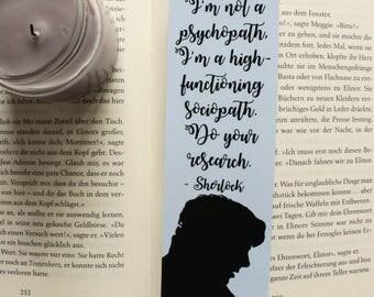 Sherlock Bookmark I'm not a psychopath