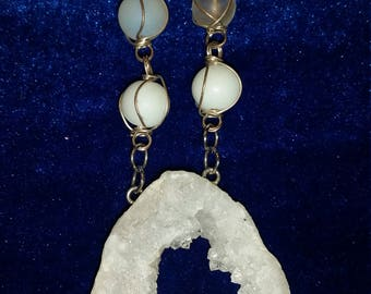 White Geode Necklace