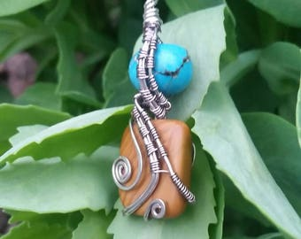 Tribal turquoise and jasper necklace