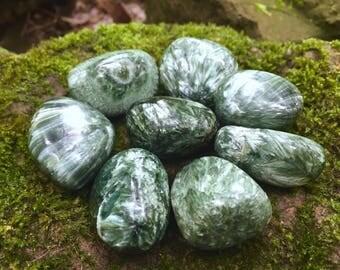 Seraphinite ~ Tumbled stones
