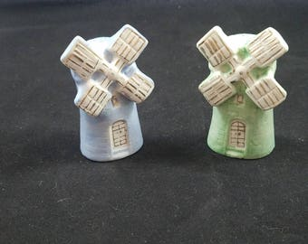Vintage Dutch Windmill Salt & Pepper Shakers