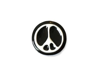 Fashion PEACE PIN, Emaille, cm.20mm