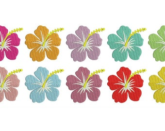 Hibiscus Tropical Flowers Hawaiian Design Embroidery Fill Hawaii Flower Design Machine Instant Download Digital File EN2072F1