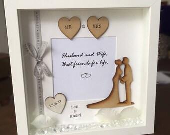 Personalised Wedding Handmade Frame