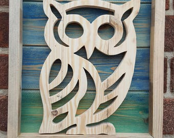 Wooden Owl wall hanging