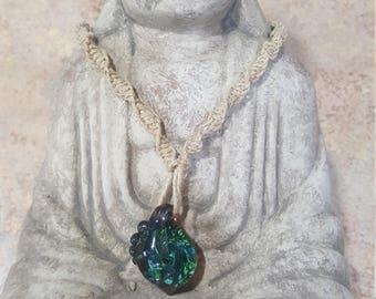 Blue Swirl Necklace