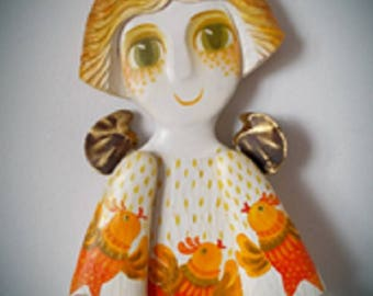 Angel, Angel statue,  statue, Home Deco,  Wooden  Angel, wooden carving, gift, original gift, Wood Collection,Collectibles, original
