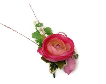 Silk Artificial Buttonhole boutonniere Free Delivery