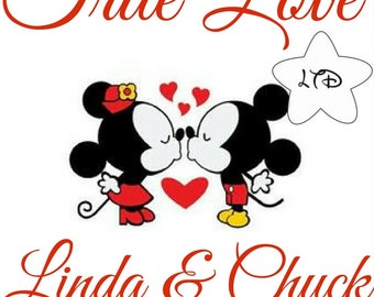 Mickey and Minnie True Love Iron On Transfer