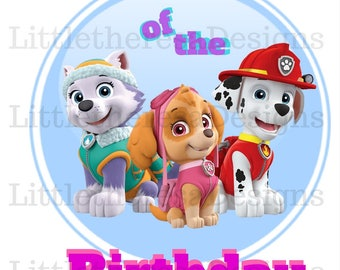 Paw Patrol Mom Of The Birthday Girl DIY  Image for Iron On Transfer