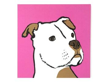 Dog Greetings Card/Dog Card/Staffordshire Bull Terrier Card