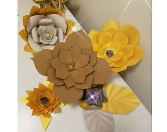 Paper Flower Set of 5