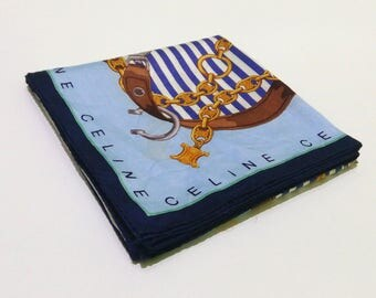 VINTAGE CELINE Handkerchief, Celine Handkerchief