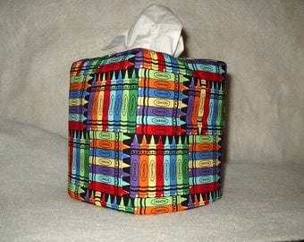 Tissue box covers - Crayons