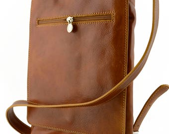 Genuine Leather Man Bag for Ipad and Tablet