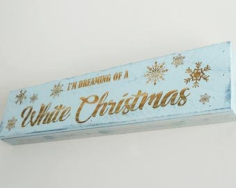 Engraved Pallet Wood Sign- I'm Dreaming of a White Christmas | Merry | Gift | Winter | Holidays | Home Decor | Wall Hanging | Snow