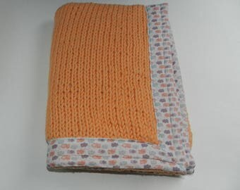 Knit baby blanket fabric lined